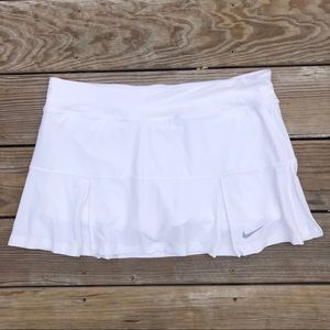 Nike White Pleated Tennis Skirt